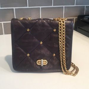 Rebecca Minkoff Crossbody Chain Link Bag (Navy)